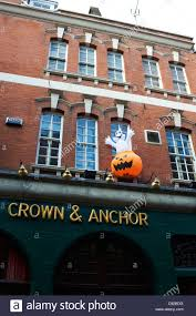 halloween inflatable on the crown and anchour pub in london stock