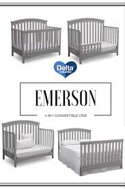delta convertible crib toddler rail you u0027ll love the emerson 4 in 1 convertible crib from delta