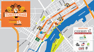 Toledo Ohio Map Turkey Chase 5k Dave U0027s Running Shop U0027s Thanksgiving Day 5k Run Walk