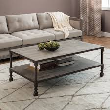 square gray wood coffee table carbon loft renate brown grey coffee table free shipping today