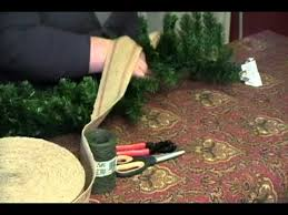 Decorating Christmas Wreath Ribbon how to decorate a store bought christmas garland youtube