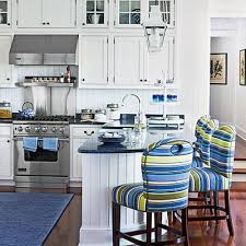Beach Cottage Kitchen by Americana On The Jersey Shore Bar Stool Kitchens And Stools