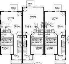 Multi Family House Plans Triplex Triplex Multi Family Plan 3 Bedroom 1 Car Garage Triplex And