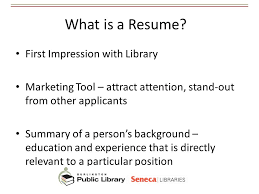 Library Resume Best Practices For Resumes And Cover Letters Ppt Video Online