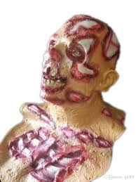 the resident evil zombie mask halloween scary dead latex bloody