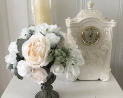 Shabby Chic Flower Arrangement by Shabby Chic Decor Floral Home Decor Floral Centerpiece