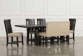 Tables With Bench Seating Jaxon 6 Piece Rectangle Dining Set W Bench U0026 Wood Chairs Living