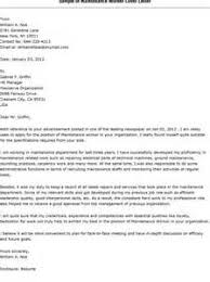 sample of cover letters for maintenance example cover letter medical