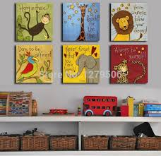 Free Shipping Canvas Painting Oil Painting Modern Cartoon Animals - Painting for kids rooms
