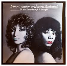 glittered barbra streisand donna summer enough is enough album