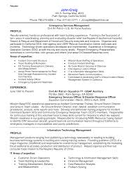Air Force Resume Example by Resume Emergency Management Resume