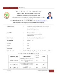 Sample Resume Format For Teacher Job by Fresher Resume Format For Teaching Job Resume Format