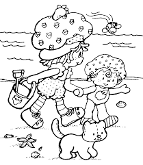 strawberry shortcake coloring pages free kids coloring