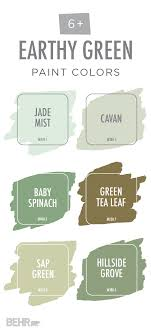 behr fan deck color selector this earthy green color palette from behr is full of soothing