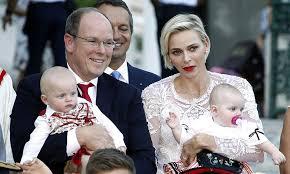 monaco u0027s prince albert princess charlene and royal twins share