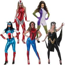 Superhero Halloween Costumes Girls Female Superhero Costume Halloween Fancy Dress Ebay