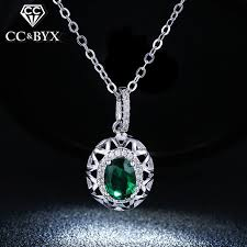 crystal vintage necklace images Buy fine green stone cz pendants necklace for jpg