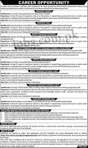 Finance Manager Job Description Public Sector Organization April Jobs 2017 For Assistant Managers