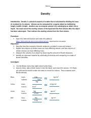 fluids density buoyancy pressure worksheet 1 fluids density