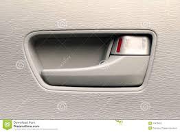 Internal Door Locks Close Up Of An Interior Car Door Handle Stock Photography Image