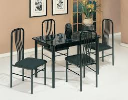 Casual Dining Room Sets Amazon Com Acme 02406 7bk 5 Piece Hudson Faux Marble Top Dining
