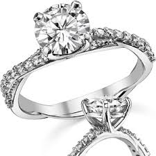 twisted band engagement ring brilliant twisted band moissanite engagement ring