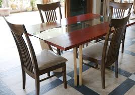 custom dining table set leather chairs modern cement table