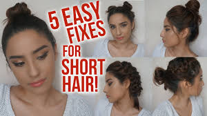 Easy Messy Hairstyles For Short Hair by 5 Easy Hairstyles For Short Hair No Heat Lazy Day Running
