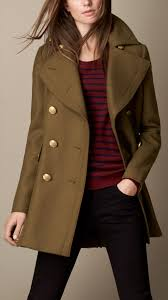 burberry oversize felted wool coat in natural lyst