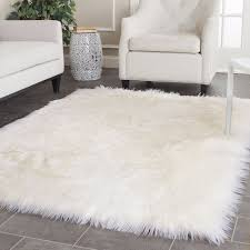 rugs unique fur rugs design ideas with fake sheepskin rug