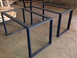 3x1 rolled steel tubing u shaped leg bases