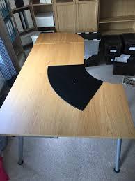 Ikea Desk Adjustable Height by Ikea Desk Oak Adjustable Height Extended In Moira County