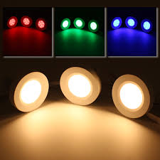 warm white led under cabinet lighting rgb led under cabinet lighting kit 2w led puck lights torchstar