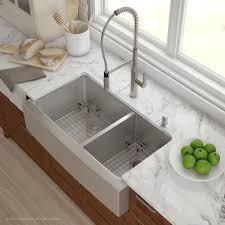 discount kitchen sinks and faucets kraus 36 inch farmhouse bowl stainless steel kitchen sink