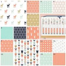 Navy And Coral Crib Bedding Nursery Bedding Set Coral Navy And Mint Arrows By 3lollipopgirls