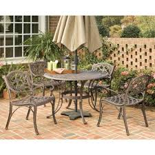 Patio Furniture Dining Sets With Umbrella - 4 5 person patio dining furniture patio furniture the home depot