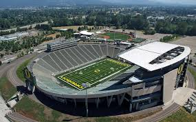 home page aerial view of autzen stadium home of the oregon ducks