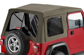 jeep soft top tan bestop supertop classic complete replacement soft top