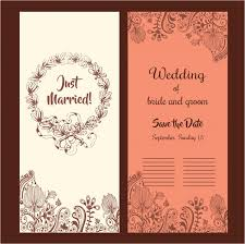 wedding cards design wedding card design classical style with flowers free vector in