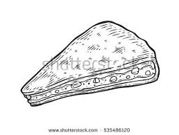 quesadilla mexican traditional food vector hand stock vector