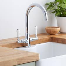 Traditional Kitchen Mixer Taps - milano victoria traditional kitchen sink mixer tap chrome