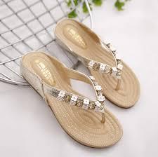 european america designer luxury women sandals gold silver beaded