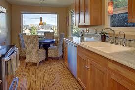 cork flooring for bathroom interior natural cork flooring in kitchen with brown kitchen