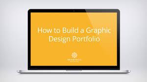 Graphic Designer Portfolio Resume How To Build A Graphic Design Portfolio Youtube