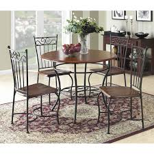 amazon com dorel living 5 piece wood and metal cafe style dinette
