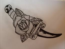 5 knife and dagger tattoo designs