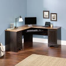 gaming l shaped desk amazon com sauder harbor view corner computer desk antiqued