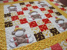 Monkey Crib Bedding For Girls Baby Quilt Quilt Addicts Anonymous