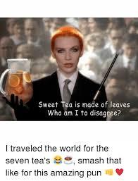 Sweet Tea Meme - sweet tea is made of leaves who am i to disagree i traveled the