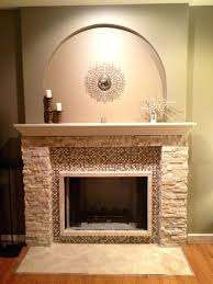 installing marble tile over brick fireplace surround ideas photo